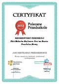 Certyfikat Klub Malucha Bajkowa Kraina Beata Pawlicka-Henry