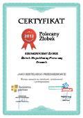 Certyfikat Żłobek Niepubliczny Pierwszy Kroczek